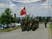 Ankomst til Tåsinge-hallen efter marchen