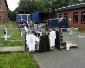 Tøj hængt til tørre udendørs