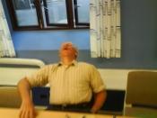 Hans Jørgen sover